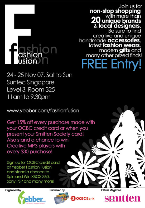 Yebber Fashion Fusion @ Suntec City on 24th to 25th November 2007